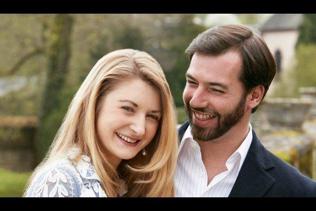 Guillaume du Luxembourg et sa fiancée Stéphanie.