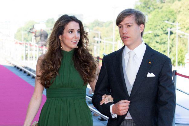 Tessy Antony et son premier mari le prince Louis de Luxembourg, le 24 juin 2016