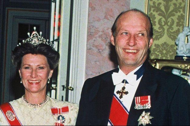La reine Sonja et le roi Harald V de Norvège, le 5 juin 1991