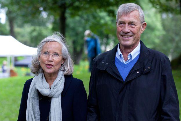 Marit Tjessem et Magnar Fjeldvær à Oslo, lors de la célébration des 40 ans de la princesse Mette-Marit de Norvège, le 18 août 2013