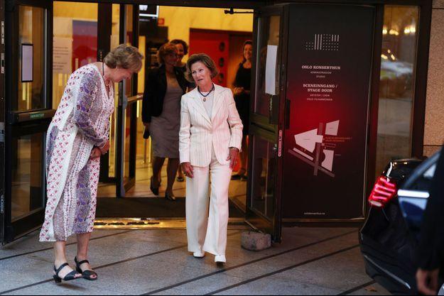 La reine Sonja de Norvège à Oslo, le 19 août 2020