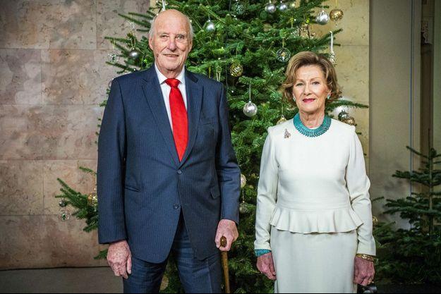 Le roi Harald V et la reine Sonja de Norvège, le 15 décembre 2020