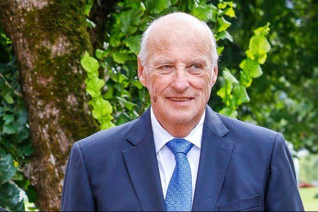 Le roi Harald V de Norvège à Oslo, le 5 septembre 2020
