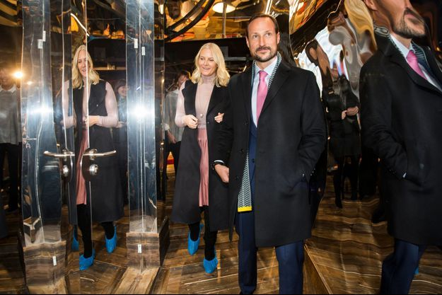 La princesse Mette-Marit et le prince Haakon de Norvège à Oslo, le 1er novembre 2016