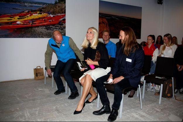 La princesse Mette-Marit de Norvège à une conférence sur le bio à Oslo, le 26 septembre 2016