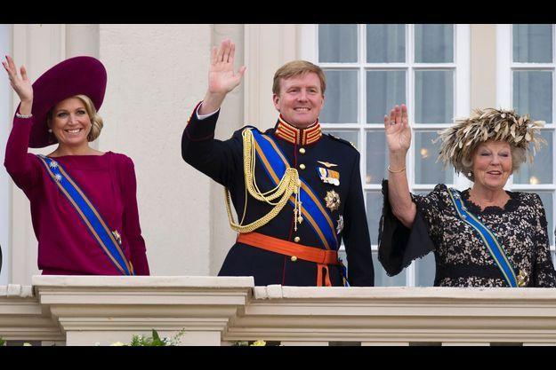 La princesse Maxima, Willem-Alexander et Beatrix