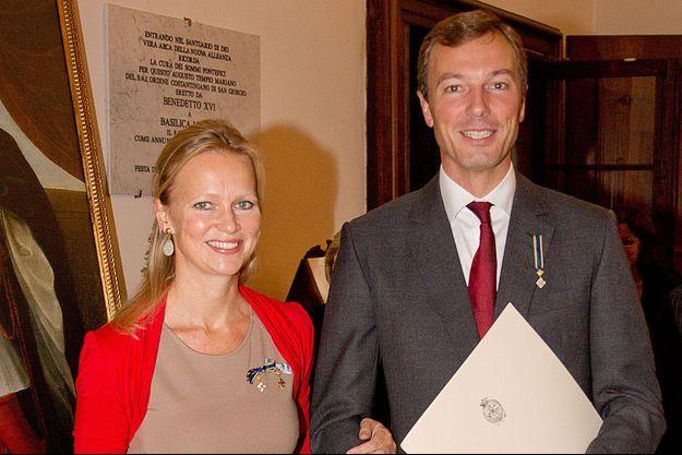 La princesse Carolina de Bourbon de Parme et son mari Albert Brenninkmeijer à Parme, le 27 septembre 2014