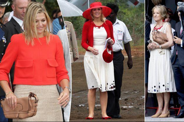 La princesse Maxima des Pays-Bas en 2011 et 2007. A droite, sa mère Maria del Carmen Cerruti Carricart le 18 septembre 2018