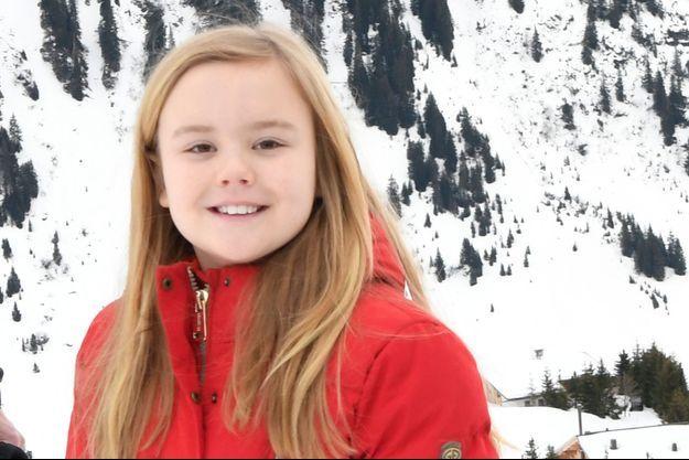 La princesse Ariane des Pays-Bas, à Lech en Autriche le 27 février 2017