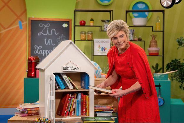 La princesse Laurentien des Pays-Bas, le 20 janvier 2021, lors d'un engagement en lien avec son combat pour l'alphabétisation mené depuis 2001