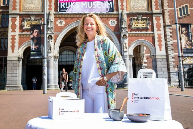 La princesse Mabel des Pays-Bas à Amsterdam, le 26 mai 2020