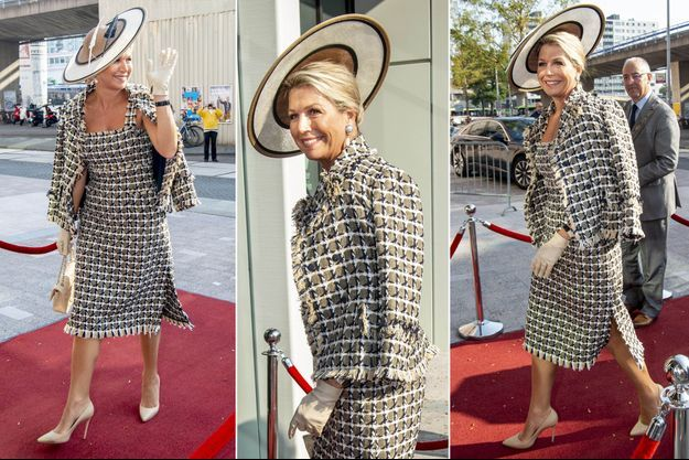 La reine Maxima des Pays-Bas à Rotterdam, le 16 septembre 2020