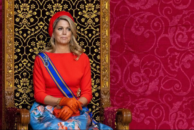 La reine Maxima des Pays-Bas lors du Prinsjesdag à La Haye, le 21 septembre 2021
