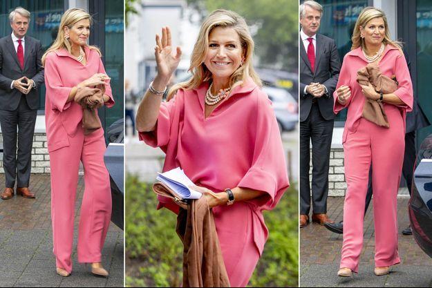 La reine Maxima des Pays-Bas à Hilversum, le 9 juillet 2020