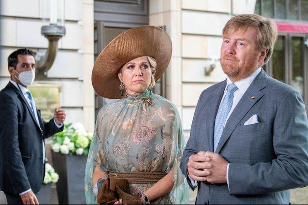 La reine Maxima et le roi Willem-Alexander des Pays-Bas à Berlin, le 7 juillet 2021
