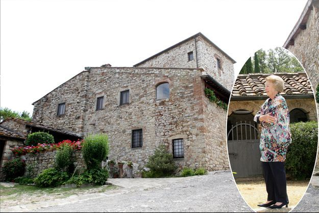 La maison de vacances de l'ex-reine Beatrix des Pays-Bas à Tavarnelle Val di Pesa, le 4 juillet 2011