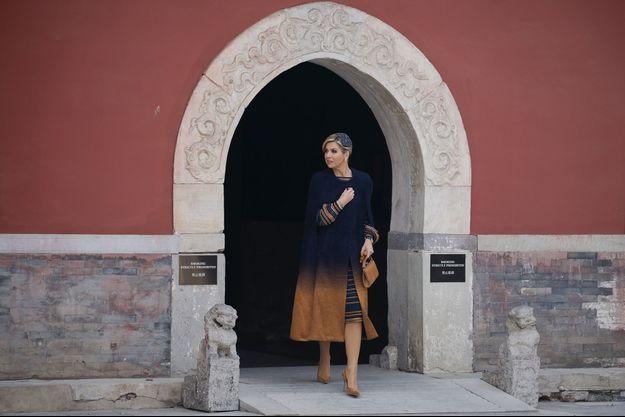 La reine Maxima des Pays-Bas à Pékin, le 8 février 2018