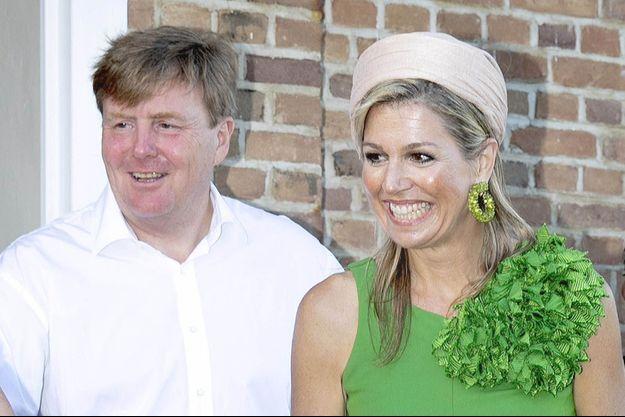 La reine Maxima et le roi Willem-Alexander des Pays-Bas, le 2 juillet 2018