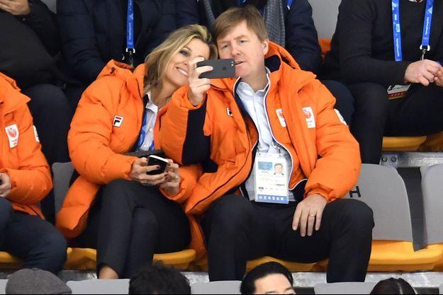 La reine Maxima et le roi Willem-Alexander des Pays-Bas à Pyeongchang, le 10 février 2018