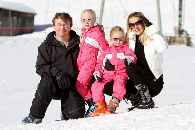 Le Prince Friso en vacances en famille au ski, en 2011.