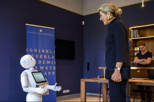 La reine Maxima des Pays-Bas à Amsterdam, le 30 octobre 2019
