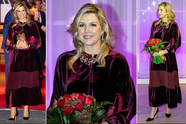 La reine Maxima des Pays-Bas à Rotterdam, le 11 décembre 2018