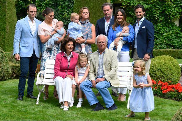 La famille royale suédoise en juillet 2016