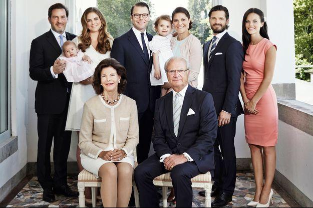 La famille royale de Suède a dévoilé une nouvelle photo, prise en juillet 2014