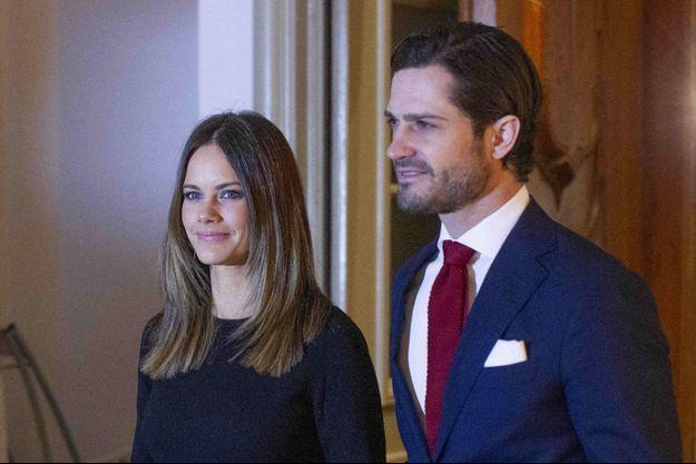 La princesse Sofia et le prince Carl Philip de Suède, le 21 décembre 2019