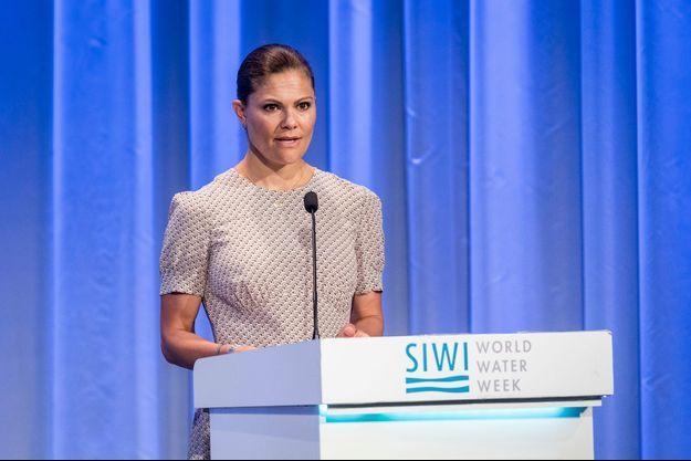 La princesse Victoria de Suède à Stockholm, le 1er septembre 2016