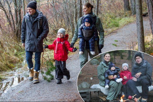 La princesse Victoria de Suède, le prince Daniel et leurs enfants la princesse Estelle et le prince Oscar, le 14 juillet et en novembre 2016