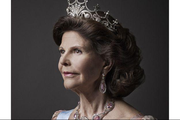 La reine Silvia, épouse du roi Carl XVI Gustaf de Suède.