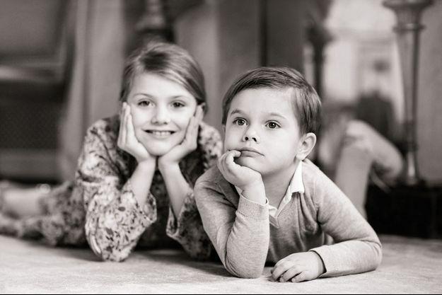 La princesse Estelle et le prince Oscar de Suède. Photo diffusée le 4 mars 2020