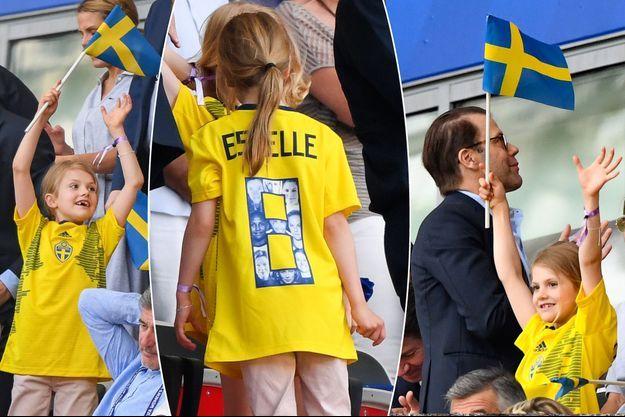 La princesse Estelle de Suède et son père le prince Daniel à Nice, le 16 juin 2019