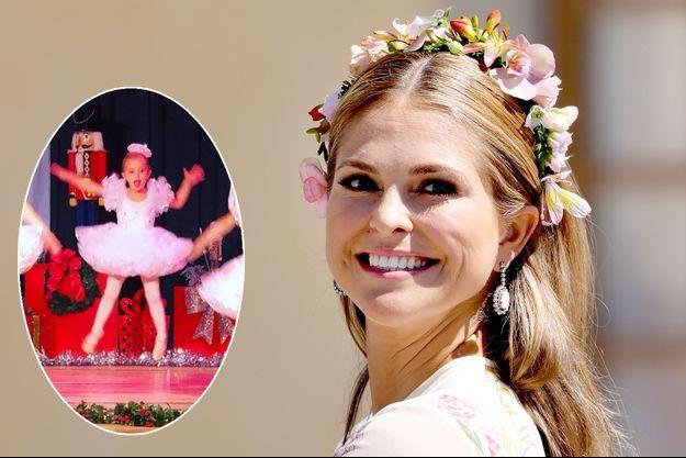 La princesse Madeleine de Suède, le 8 juin 2018. En vignette, la princesse Leonore de Suède