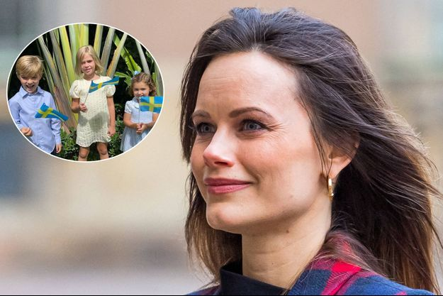 La princesse Sofia de Suède à Stockholm, le 16 décembre 2020. En vignette, le prince Nicolas et les princesses Leonore et Adrienne de Suède à Miami, le 6 juin 2021