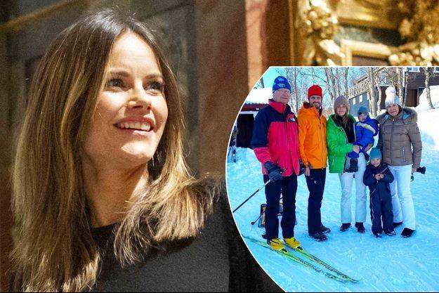 La princesse Sofia de Suède le 21 décembre 2019 - En vignette : avec les princes Carl Philip, Alexander et Gabriel, la reine Silvia et le roi Carl XVI Gustaf. Photo diffusée le 1er mars 2020