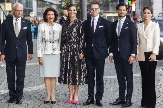 La famille royale de Suède, le 10 septembre 2019