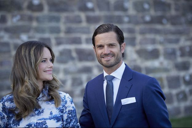 La princesse Sofia et le prince Carl Philip de Suède au château de Borgholm, le 14 juillet 2020
