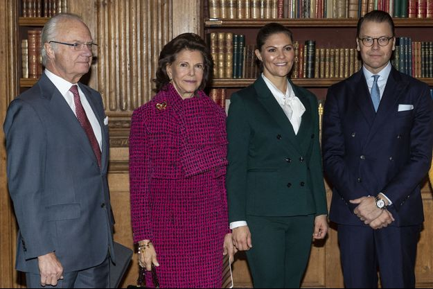 Le roi Carl XVI Gustaf, la reine Silvia, la princesse héritière Victoria et le prince Daniel, le 20 novembre 2019