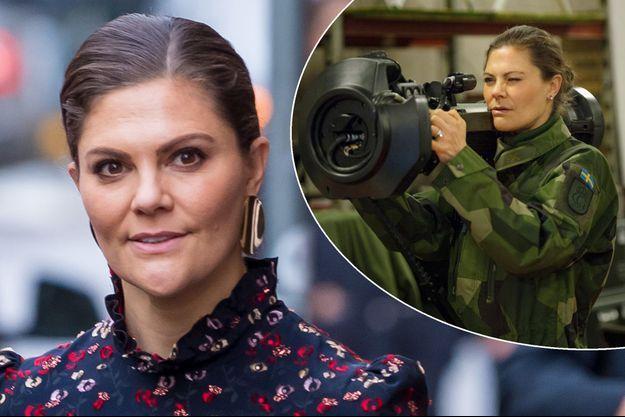 La princesse Victoria de Suède le 18 décembre 2018. A droite, le 9 janvier 2019