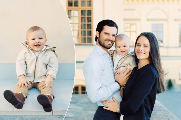 Le prince Alexander de Suède et ses parents le prince Carl Philip et la princesse Sofia, née Hellqvist. Photos diffusées pour ses 1 an le 19 avril 2017