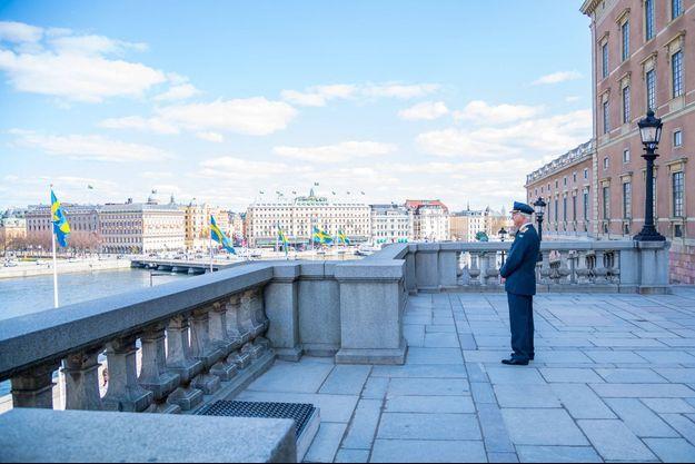 Le roi Carl XVI Gustaf de Suède à Stockholm le 30 avril 2021, jour de son 75e anniversaire