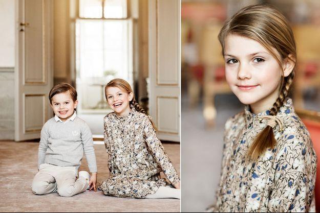Les deux photos diffusées pour les 8 ans de la princesse Estelle de Suède, le 23 février 2020