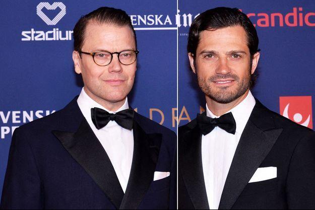 Les princes Daniel et Carl Philip de Suède au Gala des Sports à Stockholm, le 27 janvier 2020