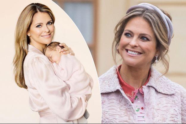 Les princesses Madeleine et Adrienne de Suède. A droite, la princesse Madeleine, le 1er décembre 2017