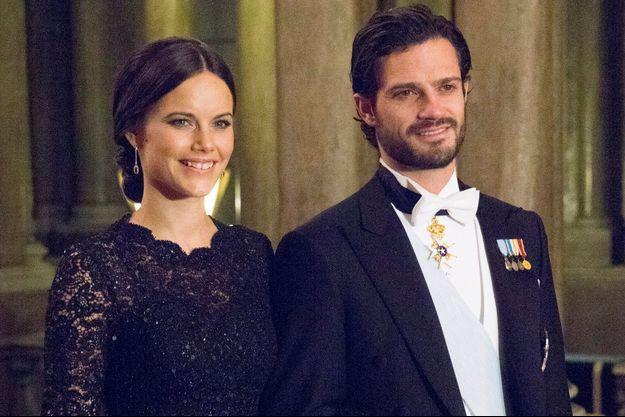 Sofia Hellqvist et le prince Carl Philip de Suède le 11 février 2015