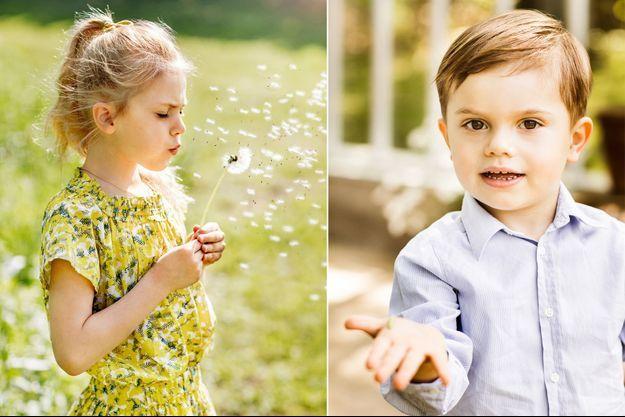 La princesse Estelle et le prince Oscar de Suède, photos diffusées le 13 juin 2019