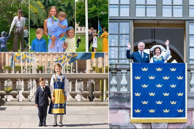 La famille royale de Suède le 6 juin 2020, jour de la Fête nationale suédoise