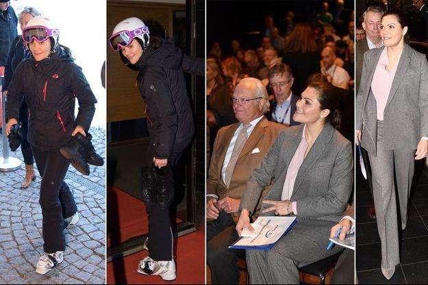 La princesse Victoria de Suède à Sälen, le 14 janvier 2019